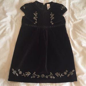 Old Navy Black Velvet Dress, 5T